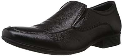 Hush Puppies Men's Adleyslipon Black Leather Loafers and Mocassins - 10 UK/India (44 EU)(8546826)