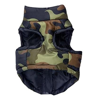 Doggie Style Store Green Camouflage Camo Dog Pet Puppy Puffer Warm Winter Padded Quilted Vest Coat Jacket Size XS 2