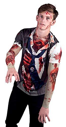 Boland Herren 84307 - Fotorealistisches Shirt Zombie , Mehrfarbig , M (Für Zombie-outfits Frauen)