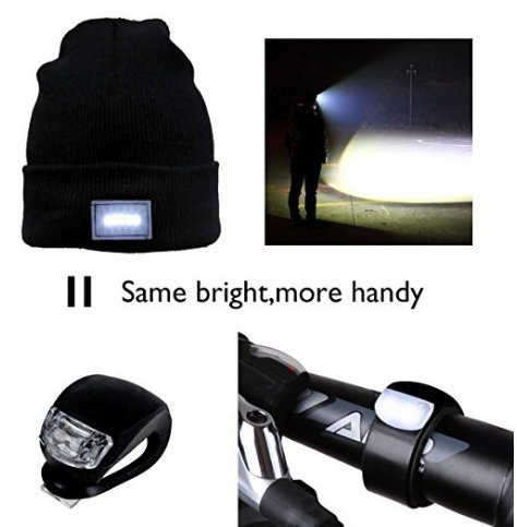 41oDiwMrxBL - Mu&Nin LED Lighted Beanie Hat, Hands Free Headlamp Cap,Unisex Winter Warmer Knit Hat with Light for Men,Women