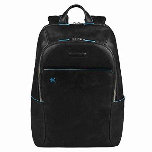 Piquadro Blue Square Zaino porta computer con compartimento porta iPad®/iPad®mini imbottito - CA3214B2 (Nero)
