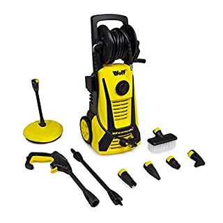 Wolf Electric Pressure Washer 2400psi 165BAR Water Power Jet Sprayer High Power Garden Car Quick Fit Release Nozzles Patio Cleaner Blaster Max 2 2 Year Warranty (Washer Only)