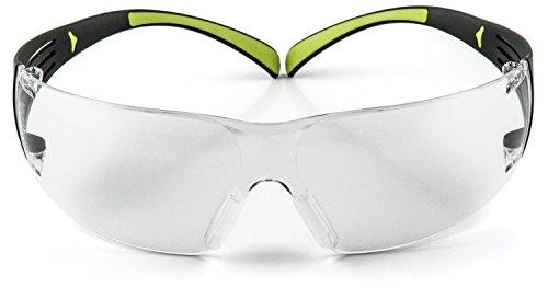 3M SF402AF Schutzbrille SecureFit, Grau, Rahmen Schwarz-Grün