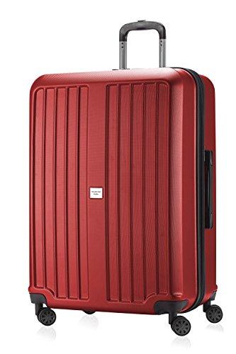 HAUPTSTADTKOFFER X-Berg - Valigia Rigida, Trolley grande ABS, TSA, Taglia 75 cm, 126 Litri, Rosso