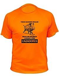 Camisetas de caza, Jabalí Dibujo, Todos nacemos iguales solo los mejores llegan a ser