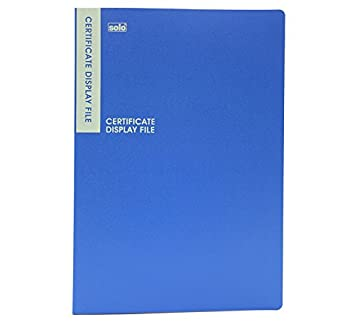 Solo DF- 502 Certificate Display File - 20 Pockets B/4 - Blue ...