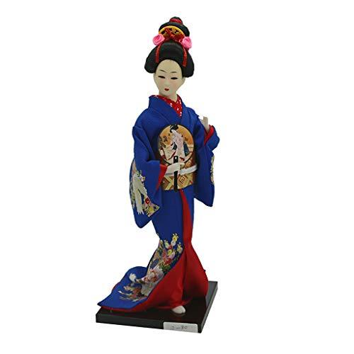 B Baosity Handgemachte 12'' Japanische Kimono Geisha Figur Puppe Spielfigur Dekofigur Sammlung - # ()