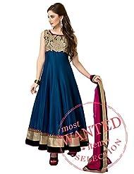 Kalki Fashion Blue Anarkali Suit With Bodice Enhanced In Zari Embroidery Only On Kalki