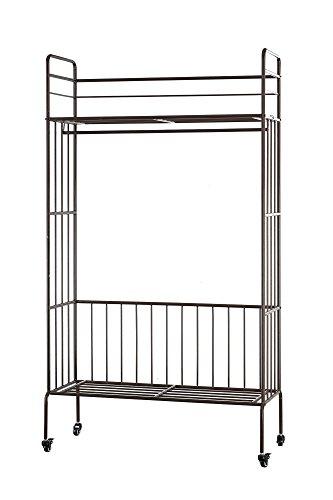 Armario Abierto de ropa Clásico Ropero de metal con Ruedas 100 x 42 x 180 (Espresso)