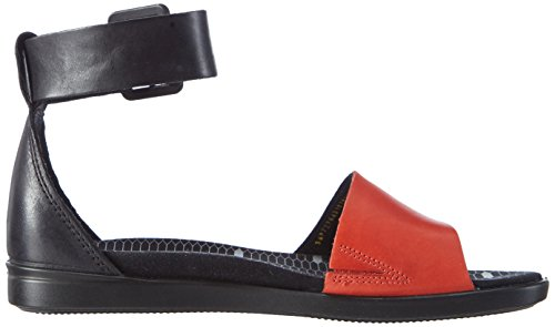 Ecco ECCO TILDA, Sandales Bride cheville fille Orange (CORAL BLUSH/BLACK59598)