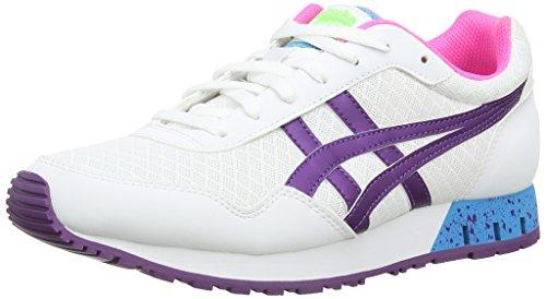Onistuka Tiger Curreo, Running Entrainement Femmes Blanc (White/Purple 133)