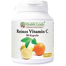 Reines Vitamin C 600mg x 90 Kaps (als Pulver in Form von Ascorbinsäure)