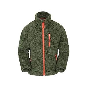 Mountain Warehouse Blast Borg Kinder-Fleecejacke mit durchgehendem Reißverschluss – Pullover mit Kontraststreifen, Leichter Pullover, warmes Sweatshirt