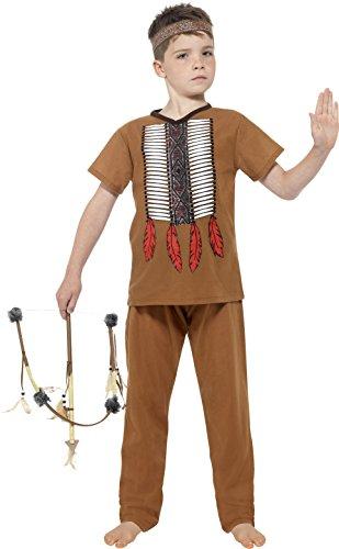 Smiffys 24664S - Jungen Indianer Kostüm, Alter: 4-6 Jahre, Größe: S, braun (Jungen Kostüme)