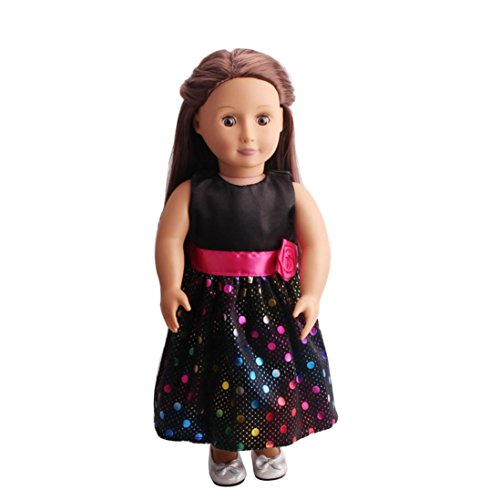 Dinglong Our Generation 18 inch American Girl Doll Clothing Party Dress , DIY Dolls Clothes Dress Up Outfits, Children Educational Pretend Play Toys, Gifts for Baby Girls