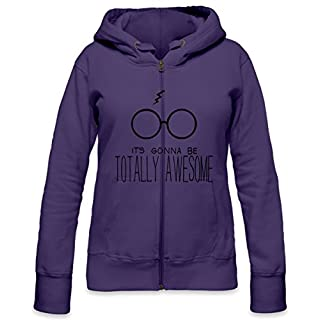 It's Gonna Be Totally Awesome Womens Zipper Hoodie Small
