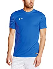 Nike Park VI Jersey - Herren kurzarm Trikot T-Shirt - 725891-463ATMUNGSAKTIVITÄT FÜR DOMINANZ.Das Dri-FIT-Material sorgt für trockenen Tragekomfort.Dri-FIT Mesh-Einsätze an den Seiten sorgen für Atmungsaktivität.Ein gerippter Rundhalsausschnitt gewäh...