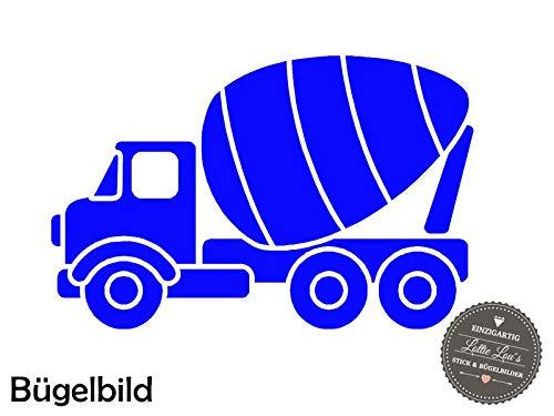 Bügelbild Aufbügler LKW Betonmischer Concrete Mixer in Flex, Glitzer, Flock, Effekt in Wunschgröße