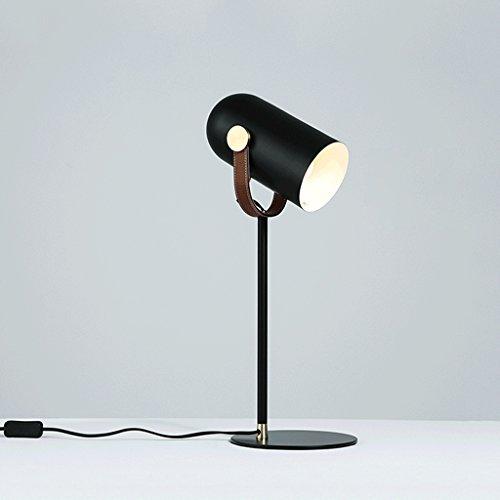 CS Eisen Kunst lange Arm Tischlampe Schlafsaal Kommode Beleuchtung Schreibtisch Lampenschirm kann gedreht werden, um E27 Lampe Kopf Stecker Taste wechseln (Kunst Glas Wechseln)
