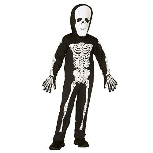 Widmann 4375S - Skelett, Kostüm für Kinder, mit Maske, Größe 110 / ()
