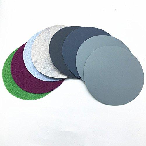 20ps 125mm Mix Grit Set Wasser Schleifen Schleifpapier 5inch Grit 800/1500/2000/3000 Schleifscheiben Hook Loop Schleifpapier Runde Sandpapier Disk Sand Sheet