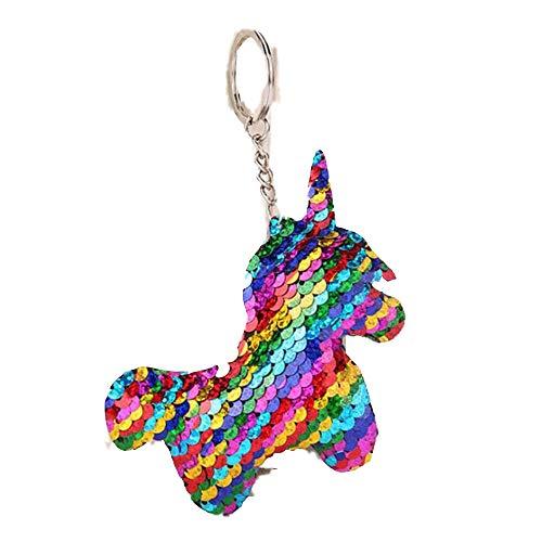 AGGIEYOU Nette Katze Keychain Glitter Pompom Pailletten Schlüsselanhänger Geschenke für Charms Car Bag Schlüsselanhänger, YL004
