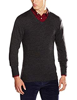 Dockers V NECK MERINO, Sweat-Shirt Homme, Gris (CHARCOAL HEATHER), Small (B01F1SU8TI) | Amazon Products