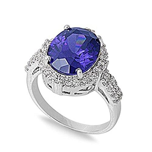 Kleine Schätze - Damen-Ring - 925 Sterling Silber - Zirkonia Tansanit (Tansanit Ring Sterling Silber)