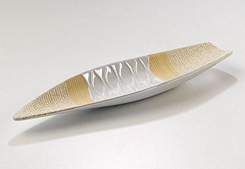 Dekoschaleaus céramique blanc/beige 41 cm