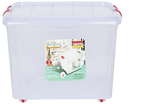 Aristo Multipurpose Storage Container Box With Wheels 25 Ltr
