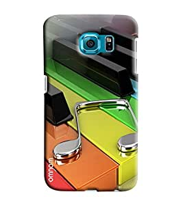 Omnam Colorful Piano Keys Printed Designer Back Cover Case For Samsung Galaxy S7