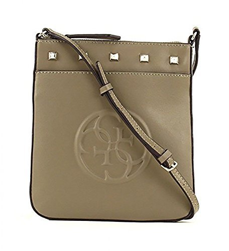 GUESS Korry Petite Crossbody Top Zip Olive (Umhängetasche Leder Zip Top)