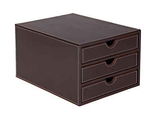 Osco BPU3TPSP Luxus Faux Leder, Schreibtischzubehör und Ablage, braun - Faux Leder-rahmen