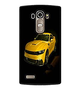 printtech Superfast Car Back Case Cover for LG G4 ,LG G4 H815