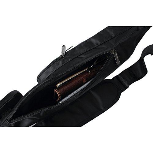 Outreo Borse a Tracolla Uomo Borsa a Spalla Bicicletta Borse Petto Outdoor Borsello Sport Viaggio Chest Bag per Militare Vintage Nero