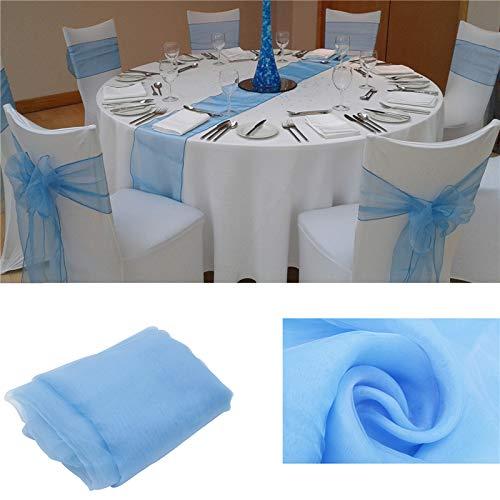 Moda organza Camino mesa Mantel cubierta suave boda