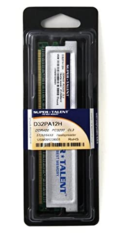 Super Talent D32PA12H Arbeitsspeicher 512MB (400 MHz, CL3)
