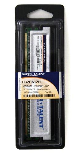 Super Talent D32PA12H Arbeitsspeicher 512MB (400 MHz, CL3) DDR1-RAM -