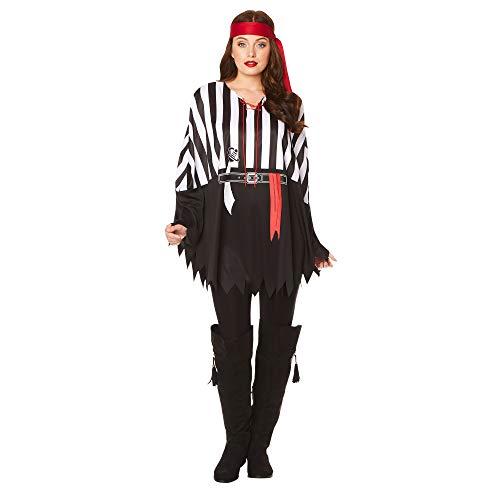 Karnival costumi 81387pirata poncho, uomo, donna, multi