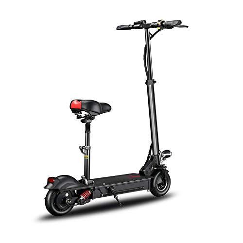 TOOSD 8 Zoll elektrischer Roller-Erwachsener faltbar, LED-Licht und HD-Anzeige, 200 Kg maximale Last mit Sitz 35Km / H, Lithium-Batterie 36V 18AH 70Km Reichweite,