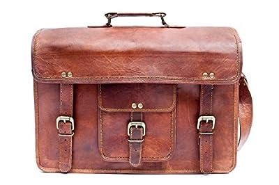Sac unisexe Barello Sacoche pour ordinateur en cuir réel fabriqué à la main Porte-documents 40 cm Sacoche Oxford