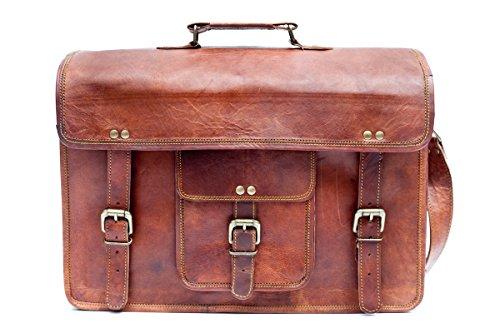 Barello Unisex Ledertasche Handarbeit Echtes Leder Schultertasche Laptoptasche 40cm Oxford Schultertasche (Damen Taschen Handarbeit)