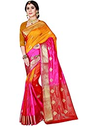 Viva N Diva Sarees For Women's Multi Color Art Silk Saree With Unstitched Blouse Piece
