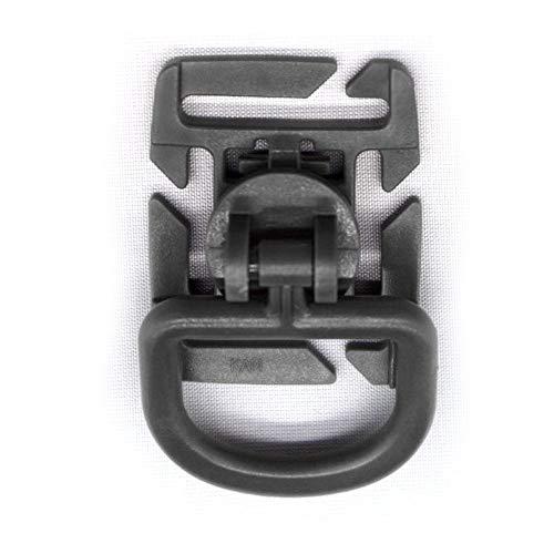 szdc88 10stk. Kunststoff Außen D-Type Schnalle Clip Militär Rucksack Schnalle Zubehör Molle System Drehbarer Schnalle Hängende 25MM D-Ring Schwarz - Schwarz (Kunststoff-militärs)