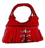 Yours Luggage Women Frill Hand Bag Red