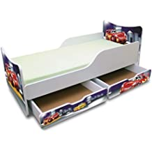 BEST FOR KIDS KINDERBETT 90x200 MIT ZWEI SCHUBLADEN CARS III