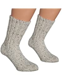 Vitasox Wollsocken Damen Herren extra dicke Socken aus Wolle Wandersocken 100% Schafwolle Made in Germany 2 Paar Natur
