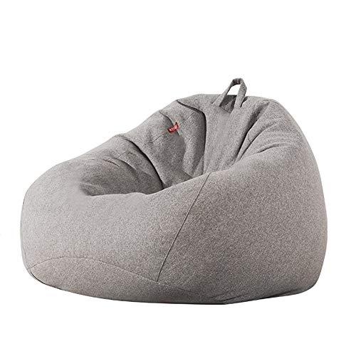 AEURX Gemütlich Sitzsack Extra Groß for Erwachsene EPP Umweltfreundlich Füllkörnchen Ausgesucht Leinenbaumwollmantel Lagerstark (Color : Gray, Size : XL)