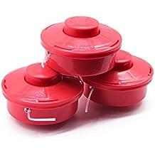 3x cabezal doble de hilos (hilo nylon para desbrozadoras rojas