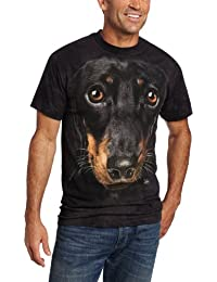 The Mountain Unisexe Adulte Tete Chien Teckel T Shirt